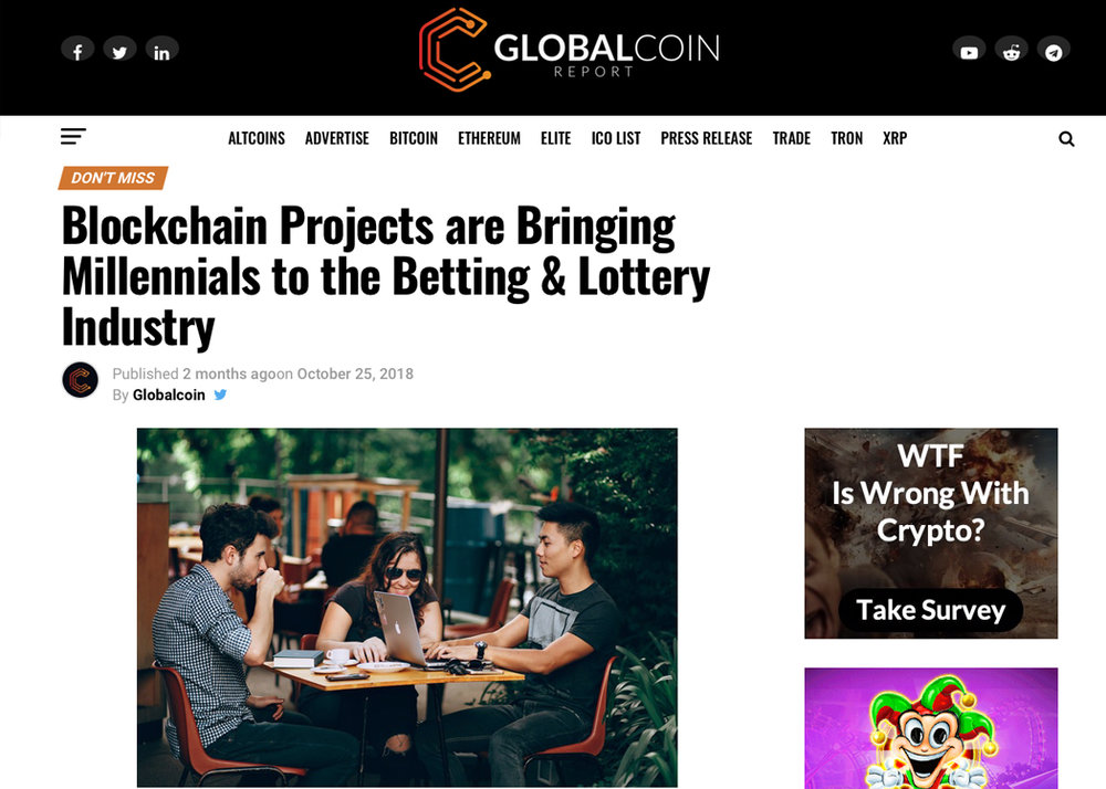 Blockchain Projects are Bringing Millennials to the Betting & Lottery Industry