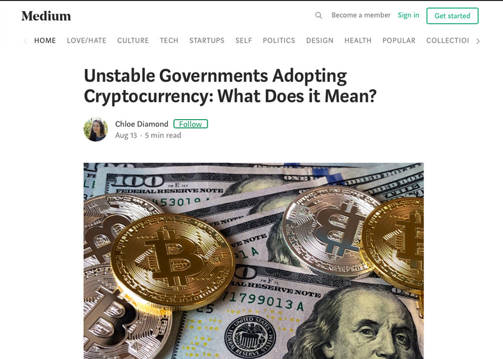 Unstable Governments Adopting Cryptocurrency: What Does it Mean?