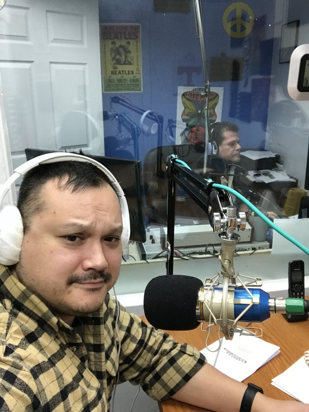 Radio interview at WALH Radio, Wilmington, Ohio