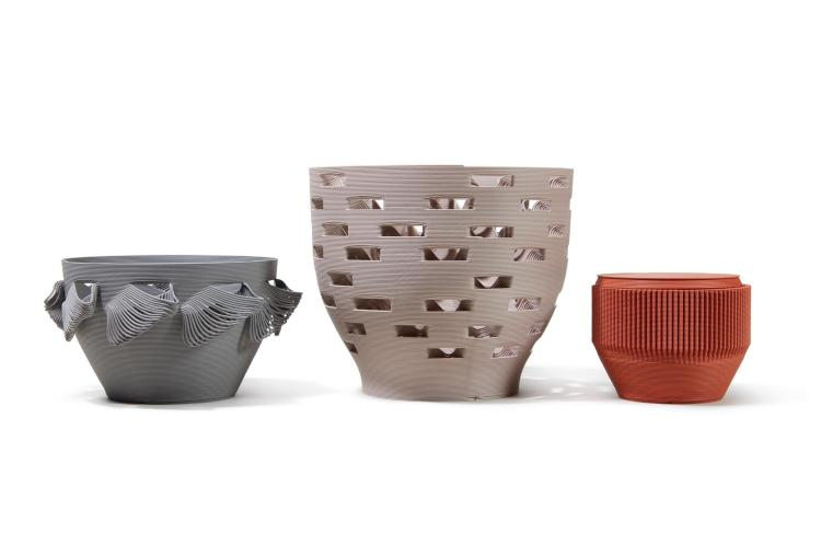 3D Printed Vessels by Bold Studios in Paris, France. These vessels were a commission as part of our  Sotheby's auction.