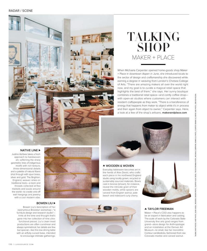 Luxe Interiors + Design Magazine -