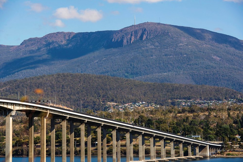 The Batman Bridge and Mount Wellington, Hobart