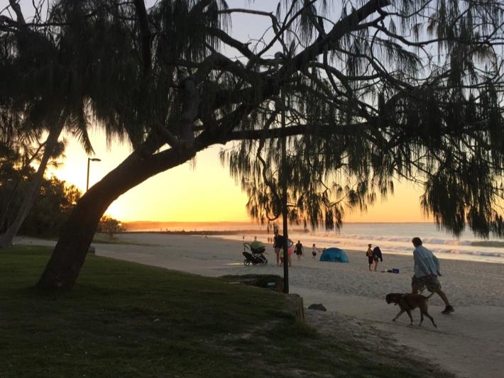 Noosa Front Beach at Sunset, Noosa Heads