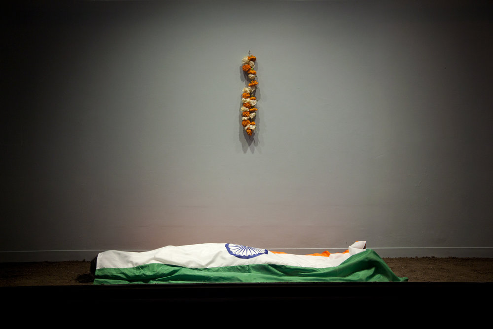 Azaadi Zindabad (आज़ादी ज़िंदाबाद) / Long Live Freedom . Mixed media installation. Dimensions variable. 2014.