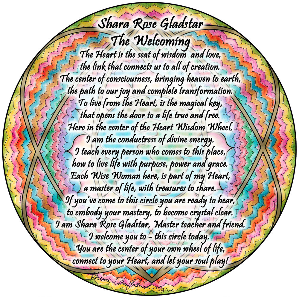 Click on image to read. It is a welcoming from the Oracle Master