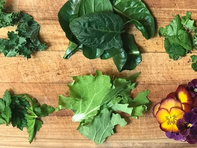 Pansy+and+salad+greens+from+the+garden.jpg