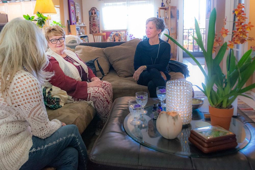 sistars retreat, jani and judith on sofa.jpg