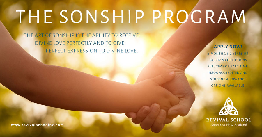 Sonship Internship helps Revival School students learn about identity, transformation, intimacy, sonship, vision, dreams, destiny.
