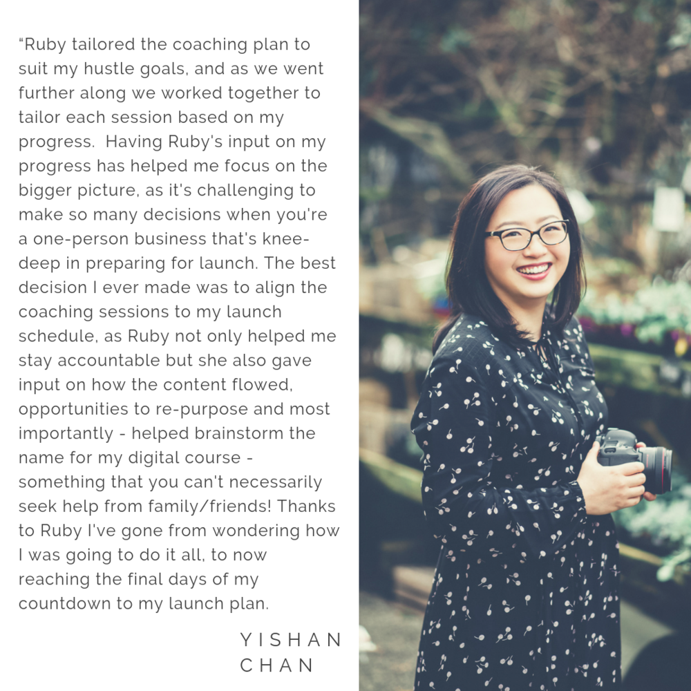 Working with Ruby changed the course of my business as well as my mindset around business. Every session with Ruby I would jump off the call and be overflowing with new ideas, bigger goals accompanied with realistic .png