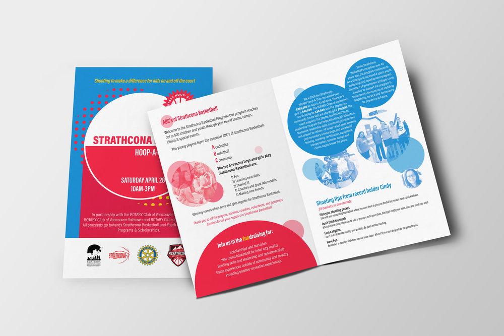 Strathcona Rotary Hoopathon graphic design