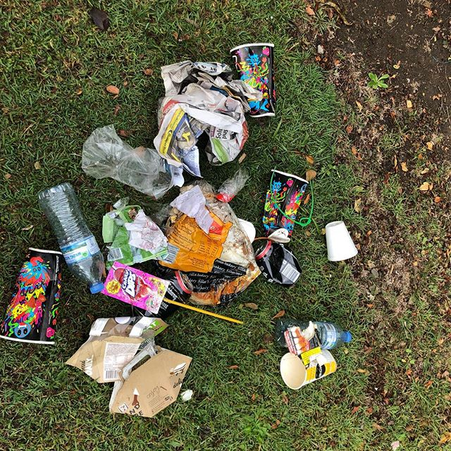 """Here's my collection from my 10 min Dog walk on Saturday.  A few people have said to me... """" Picking up litter won't really solve the problem. We need to get to the source of it and educate people to not litter in the first place""""  And whilst I agree with that, can we really afford to wait till that happens on a mass scale?  What can I do right now as an individual, without much effort to spread an awareness of the litter problem?  It's pick it up and post a photo…..Use the hashtag #missionlitterpickup  Monday can be a Funday !  #collectiveresponsibility #doitforyourkids"""