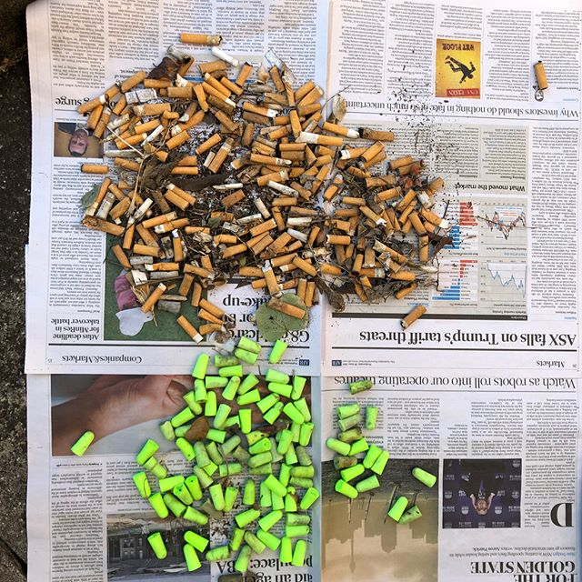 Believe it or not... I picked up all these ear plugs and cigarette butts from within an 8m radius of the bin and cigarette butt tray you see in the photos.  This was in front of a business on Evans Rd, Salisbury. I will be taking them in  and having a chat with the manager.  A few weeks ago I spoke to one of the workers there and asked if he would please ask his fellow workers to put their lunch rubbish in the bin that was already there as I'd been cleaning up for them. Since that day it's been clean.  So I'm pretty sure if I request that they dispose of their ear plugs and cigarette butts responsibly too, they absolutely will. Apologies for the gross photos.  Mission Litter Pickup is a grass roots initiative to clean up our environment one walk at a time. Simply add a bag and a glove to your already existing walk/dog walk, pick up litter when you see it and then, most importantly take a photo and post it on social media with the hashtag #missionlitterpickup to spread an awareness and inspire others to do the same. Leverage your efforts.  Here is a link to our FB page https://www.facebook.com/missionlitterpickup/  #conversationswithoutcondemnation #missionlitterpickup #doitforyourkids #collectiveresponsibility