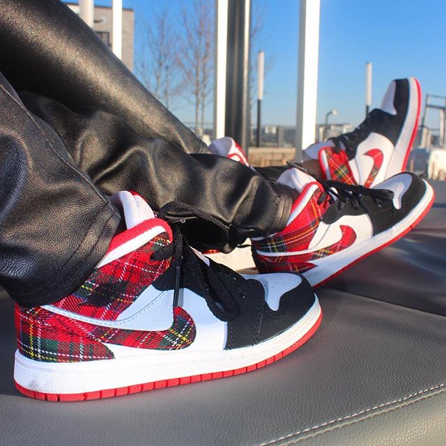Plaid Jordan's... 😍 #ratchetcouture