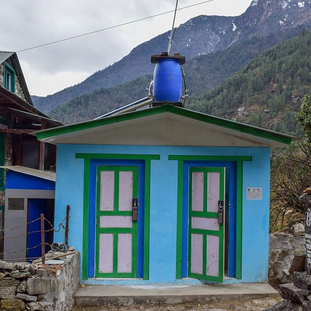 The first Hike for Help public restroom is finished and open for use! Hike for Help plans to put many more along the Everest basecamp trail to promote cleanliness on and around the trail. At least two more are underway as of now, way to go Hike for Help!