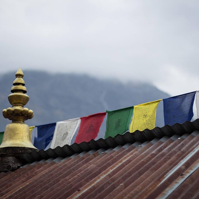 Buddhist prayers flags are said to encompass positive energy and the prayers are carried by breeze.