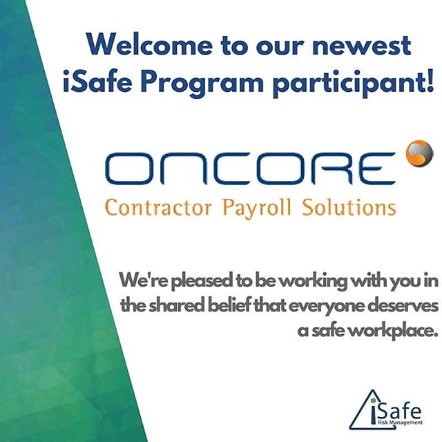 We are delighted to announce that Oncore Contractor Payroll Solutions' is now a valued member of the iSafe Risk Management Program!  Oncore recognize that #safety is a high priority and are keen to provide this service to their clients.  The iSafe Program helps agencies understand and manage the safety of their workers. Oncore are one of many who believe iSafe will benefit their business and we are pleased to be working with them through the shared belief that everyone deserves a #safe #workplace.  #recruitment #contractors #contractorpatroll