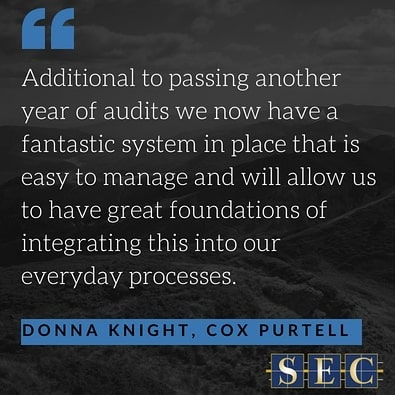 Another happy client! Donna Knight from @coxpurtell has given us a shining review! It was such a pleasure working with them to prepare for triple certification and we're glad to have made a difference. 