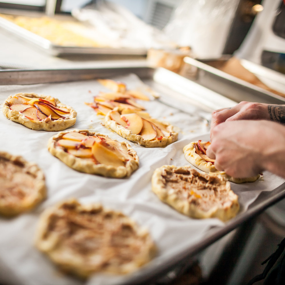 Handmade Peach Tart