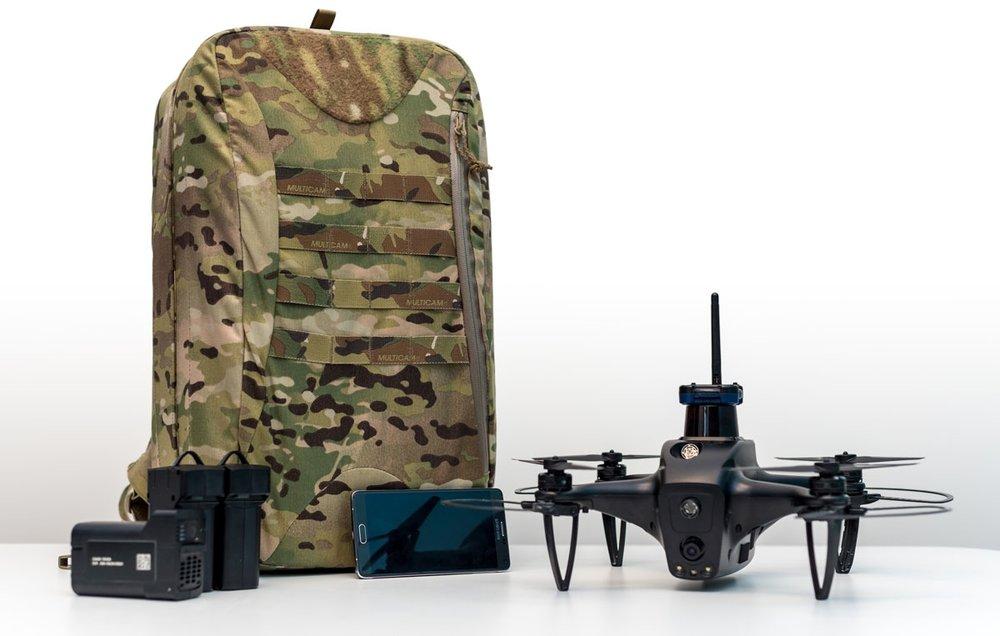 Nova with Backpack & Phone