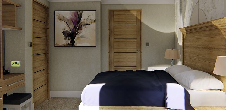 Copy of Traditional bedroom design with a splash of contemporary