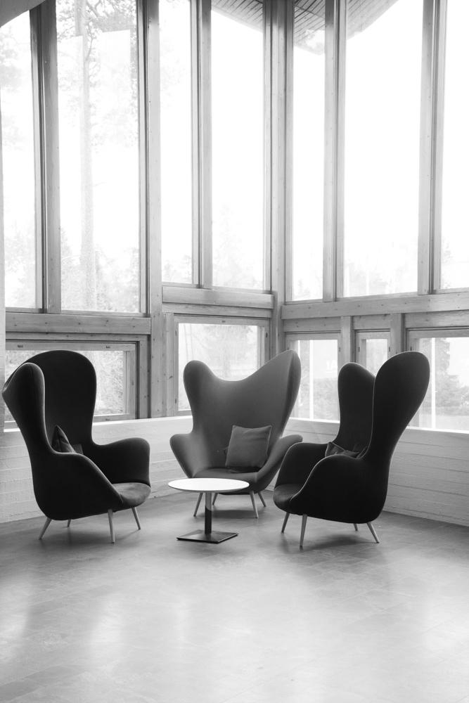 Dipolin peruskorjauksen yhteydessä päivitetystä sisustuksesta vastasi Aalto-yliopiston alumni Tuuli Sotamaa.