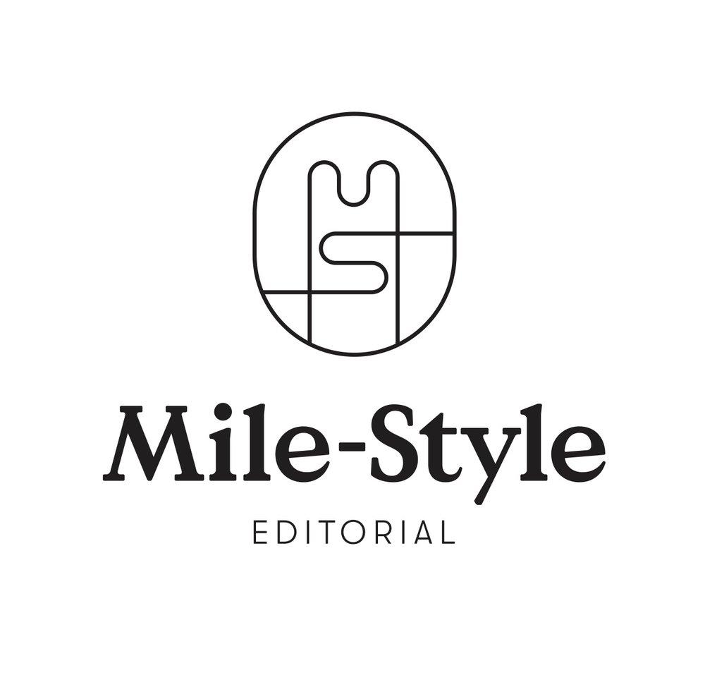 llkan suunnittelema logo Mile-Style Editorialille.