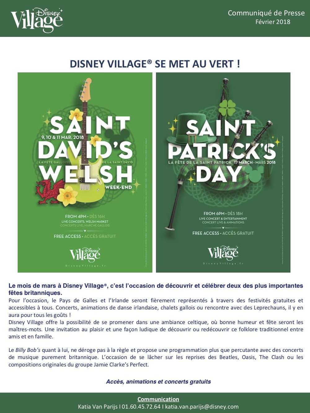 St David St Patrick 2018 à Disney Village.jpg