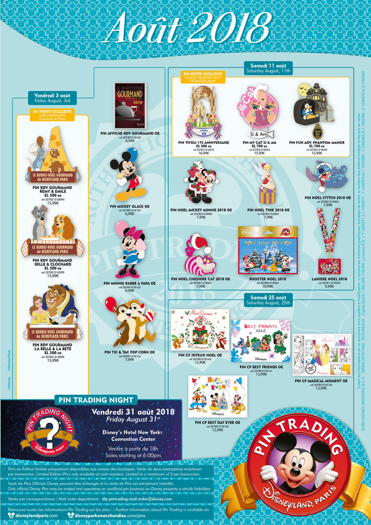 youtube disneyland noel 2018 Pins August 2018 — dlrpfans youtube disneyland noel 2018