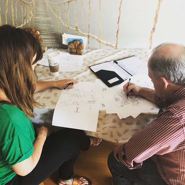 Another Fantastic meeting with our local artist, working on our artwork for our Smart Fish Academy APP! Coming this Summer 🤗