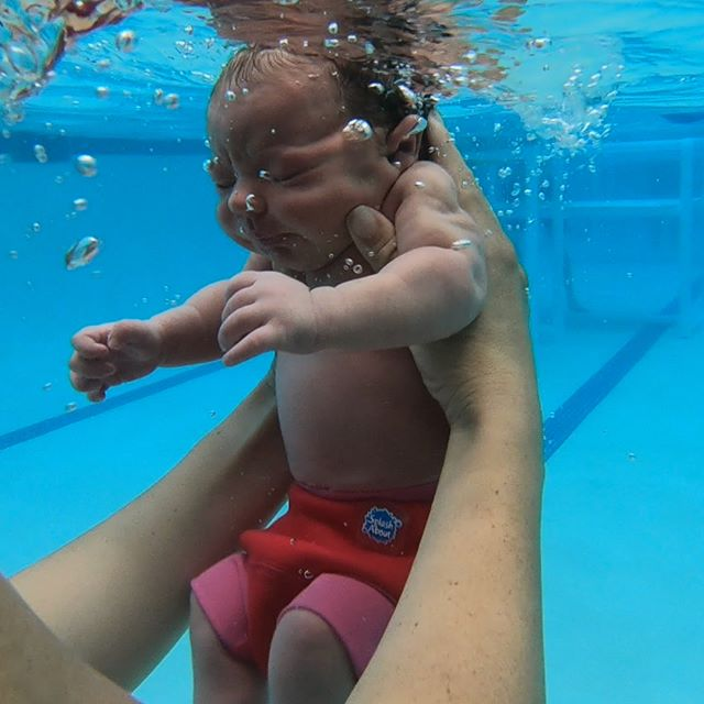 Taking a break from work to enjoy the unbelievably unique opportunity to give my 5 Day (Yes, FIVE Day) old daughter her first Swim Experience. There is no such thing as starting too soon...only too late. . . . . . . . . . . . . #Swim4Fun #Swim4Life #SwimFromTheStart #SwimLife #SFM #SmartFish