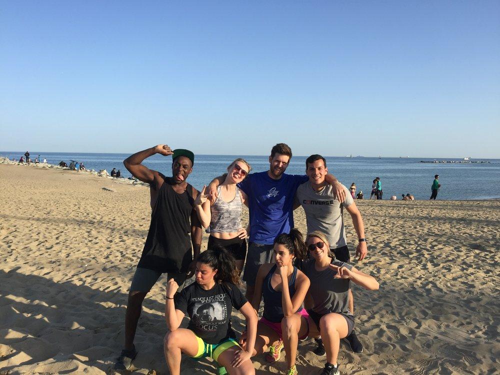 Beach Fitness Classes Barcelona