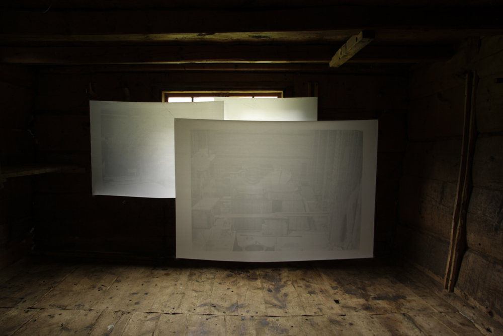 Photography on tracing paper 60x80cm