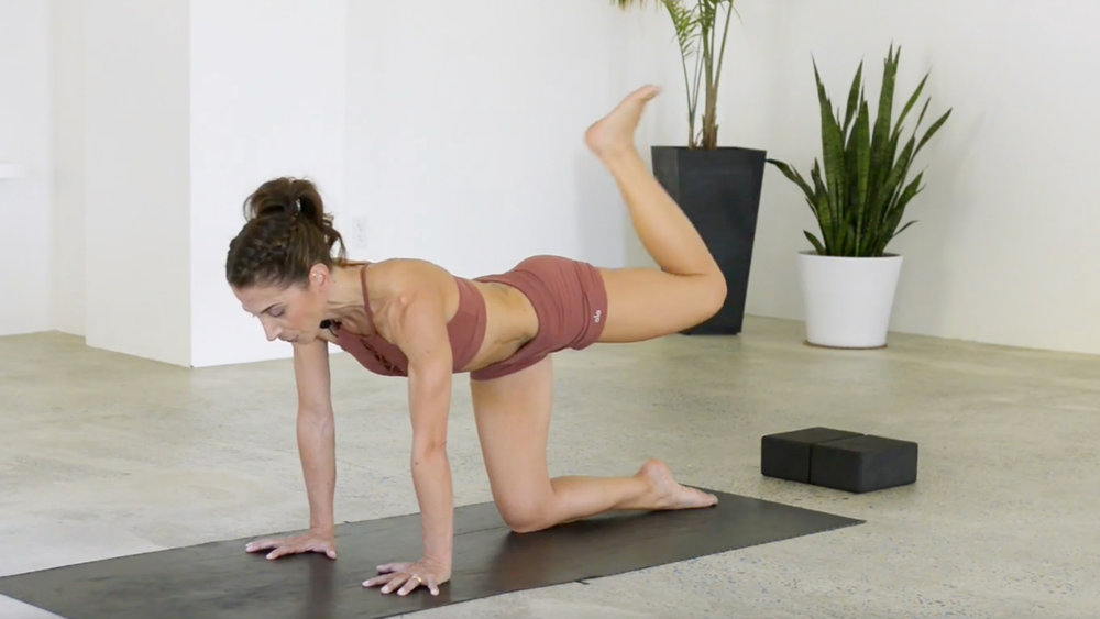 Core 5: Glutes & Spinal Extensors 26mins  The glutes and spinal extensors are often overlooked. Learn how to strengthen all the muscles that surround the spine with these exercises that focus on back core muscles.