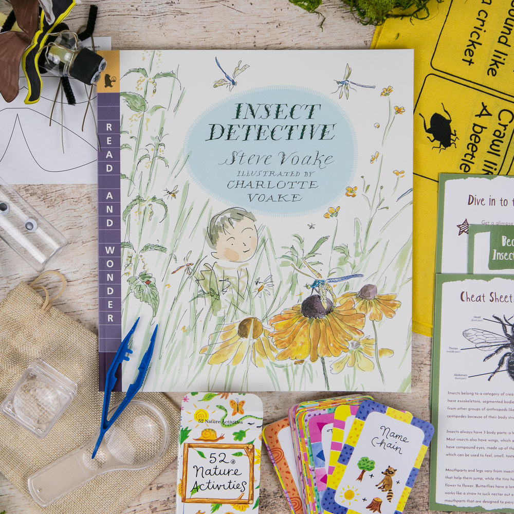 Steve Voake's book  Insect Detective  was featured in the  Wonderkin Insect Box
