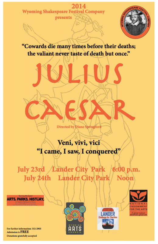 Julius Caesar, Wyoming Shakespeare Festival Company Production