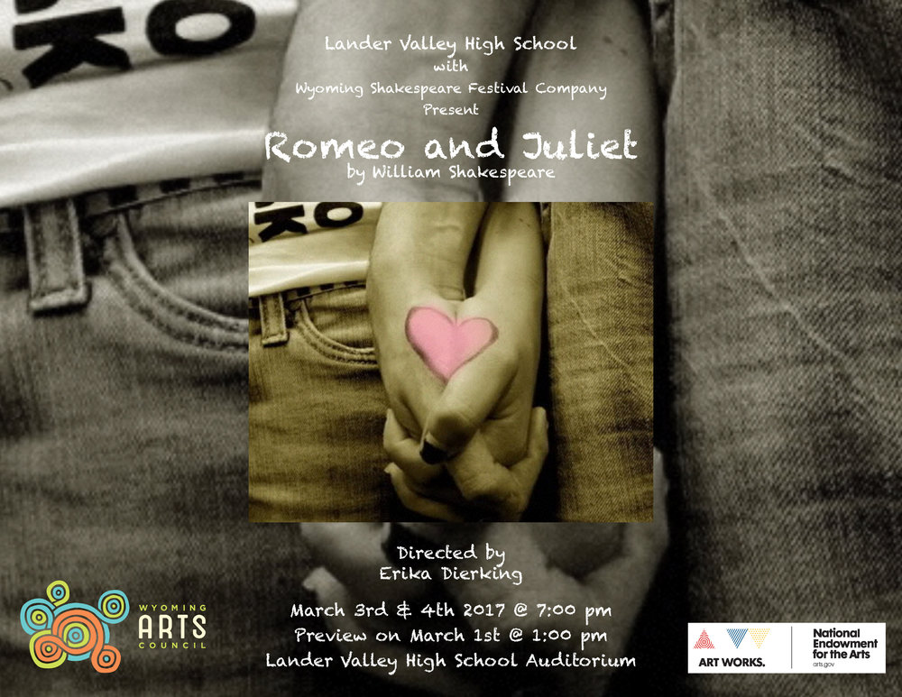 Romeo and Juliet, Wyoming Shakespeare Festival Company Production