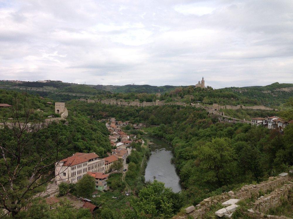 The view over Veliko Tarnovo
