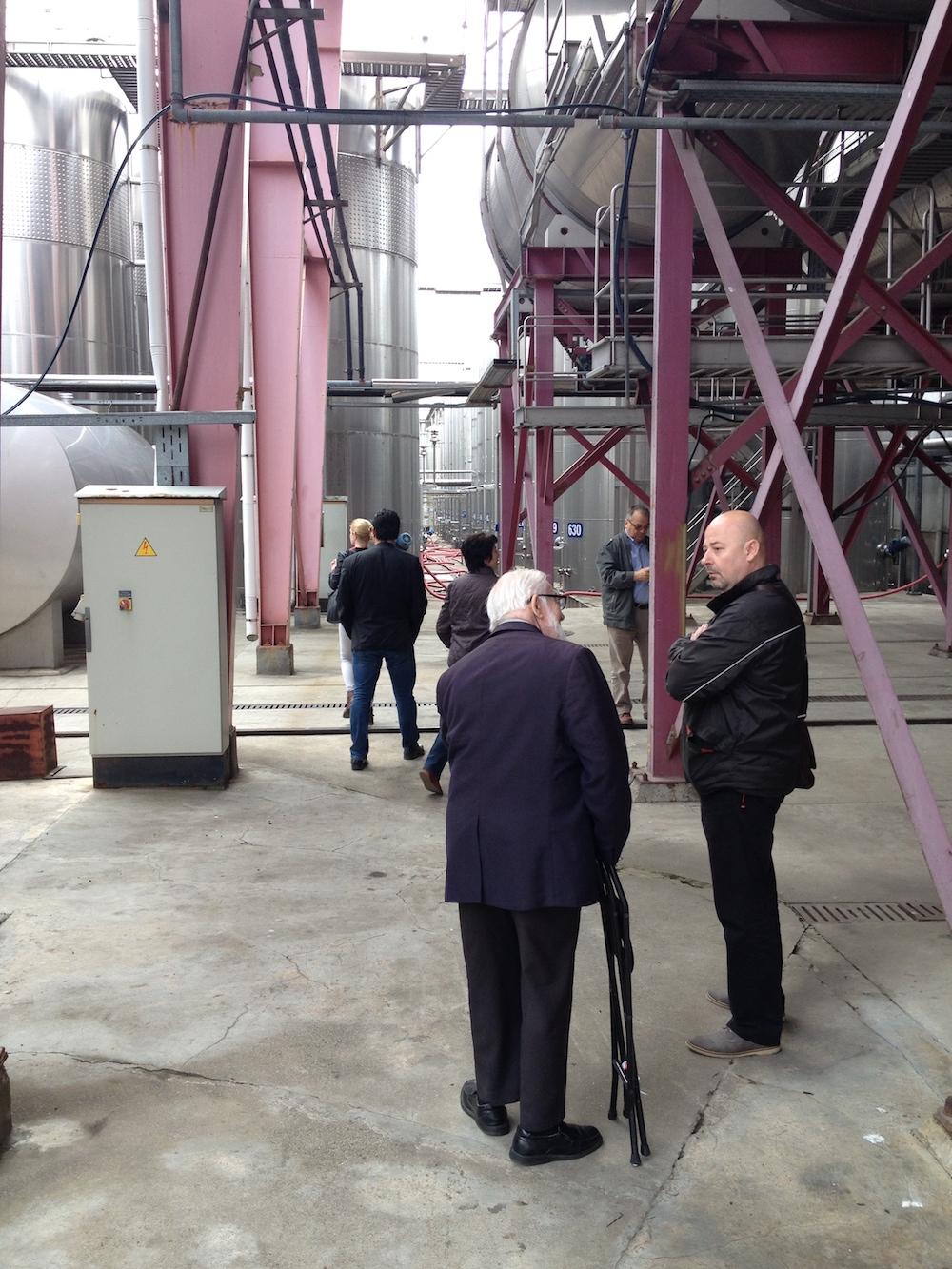 John Salvi MW talking to Dr Goran Milanov