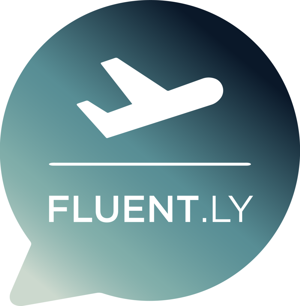 Logo for  Fluent.ly , my final capstone project.  Fluent.ly  is a digital media company that combines language learning with editorial content on experiential travel.