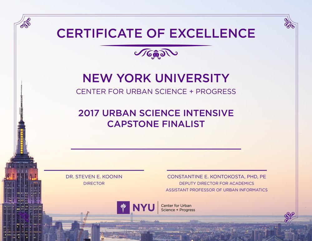 USI Certificate