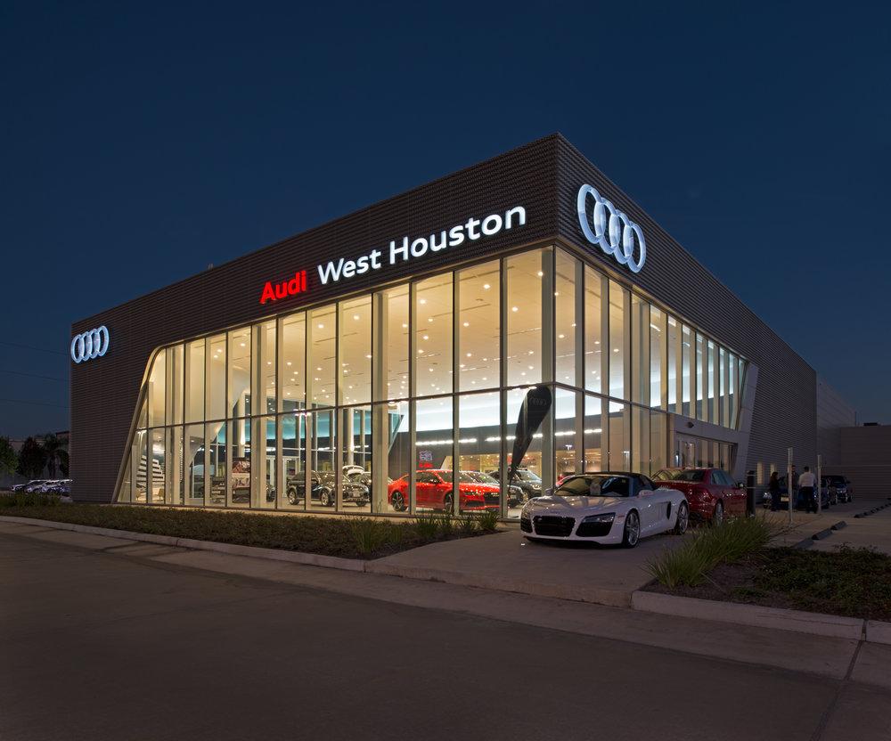 AUDI WEST HOUSTON Goree Architects - Audi west houston