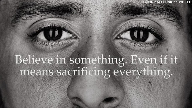 On August 26th 2016 former 49ers quarterback, Colin Kaepernick put it all on the line and devoted himself by taking a knee to raise awareness around oppression of African American people in the U.S.