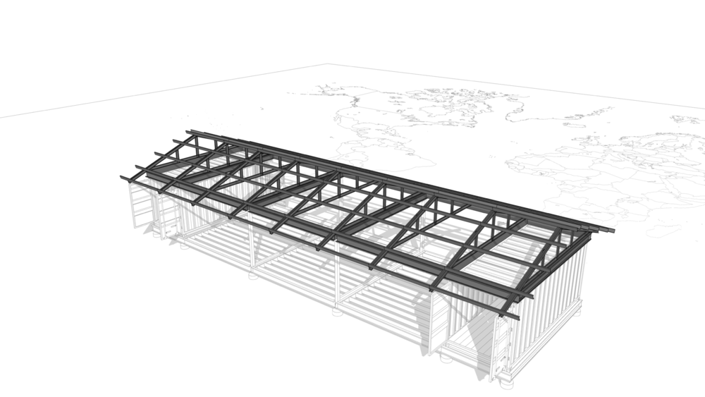 Roof Framing - Designed to handle high-wind events and provide ample shelter from the elements.
