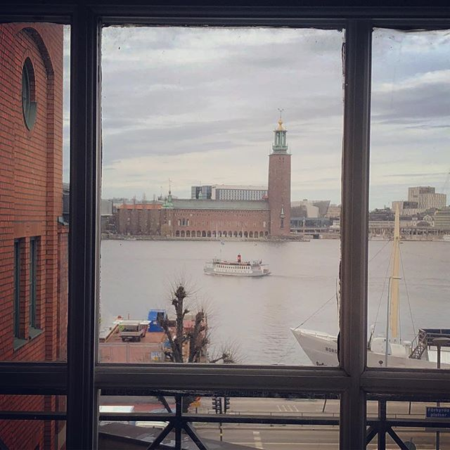Vacker utsikt på dagens location 😍 Heldagskonferans med Visita 📸📸 #visita #munchenbryggeriet #stockholm