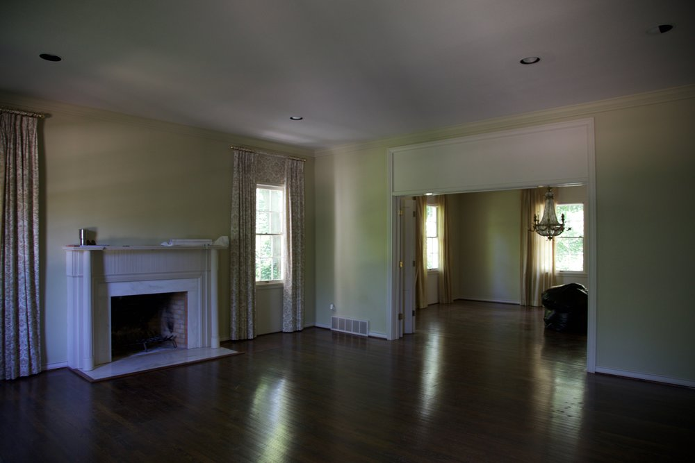 Formal living and dining room behind it.