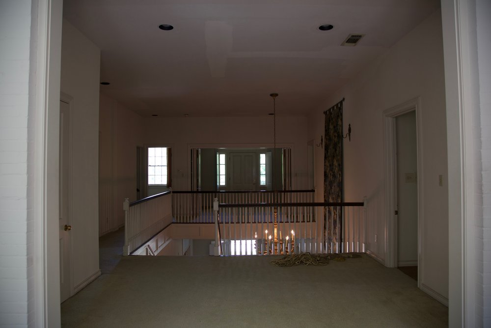 Upstairs landing and a future study room for the kids.