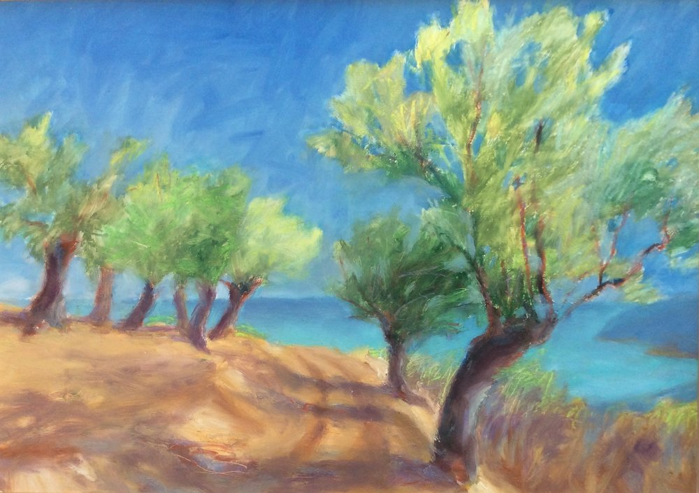 Olive Grove with Aegean
