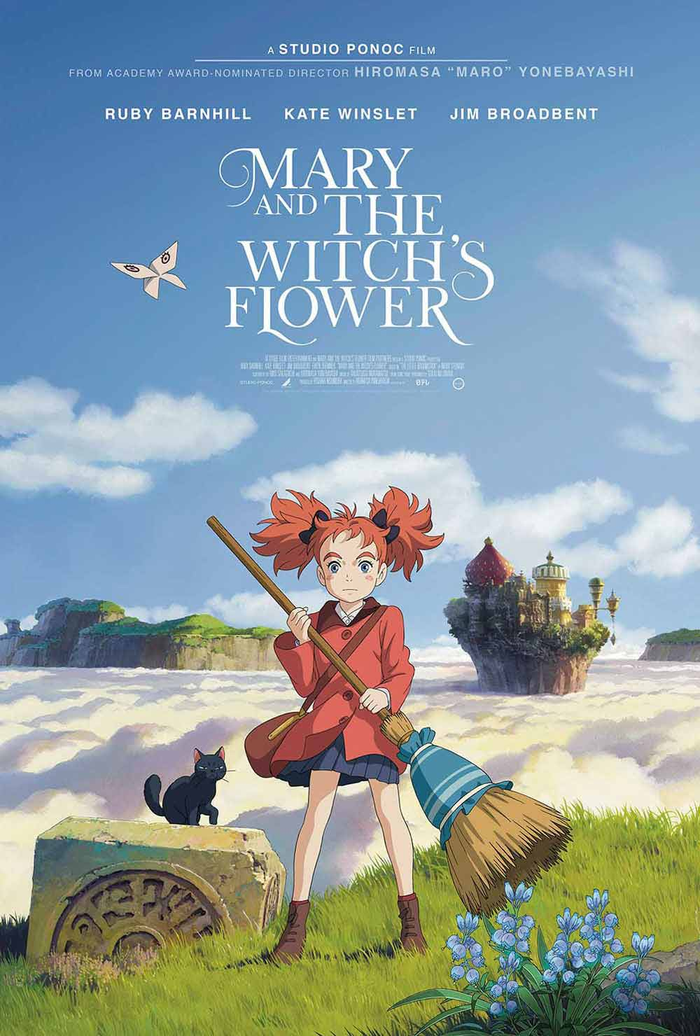 Mary and the Witch's Flower (2018) - Directed by: Hiromasa YonebayashiStarring: Hana Sugisaki, Yuki Amami; dubbed by Ruby Barnhill, Kate Winslet, Jim BroadbentRated: PGRuntime: 1hr 42minTMM Score: 3 StarsSTRENGTHS: AnimationWEAKNESSES: Simplicity, Derivative, Pacing