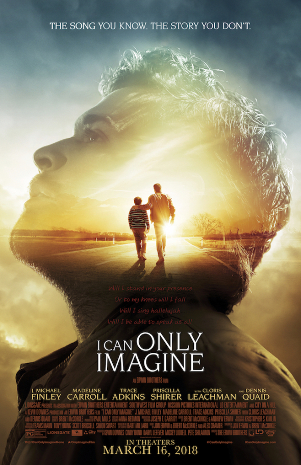 I Can Only Imagine (2018) - Directed by: The Erwin BrothersStarring: J Michael Finley, Dennis Quaid, Madelin CarrollRated: PG for Thematic Elements Including Some ViolenceRunning Time: 1 h 50 mTMM Score: 3.5 stars out of 5STRENGTHS: Message, Family FriendlyWEAKNESSES: Acting, Characters