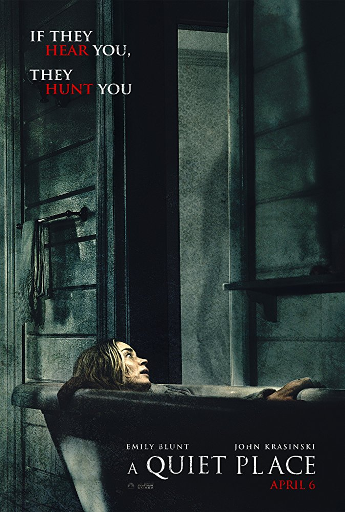 A Quiet Place (2018) - Directed by: John KrasinskiStarring: John Krasinski, Emily BluntRated: PG-13 for Terror and Some Bloody ImagesRunning Time: 1 h 30 mTMM Score: 4.5 stars out of 5STRENGTHS: Pacing, Simplicity, Writing, Sound Design, World Building, DirectingWEAKNESSES: -